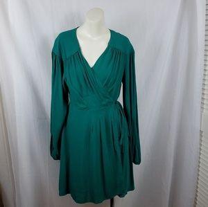 Free People Emerald Green Wrap Dress